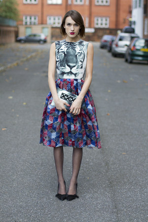 Holly Fulton dress - Holly Fulton bag - swarovski ring - Isabel Marant heels