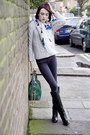 Pollini-boots-blk-dnm-jeans-alexander-mcqueen-scarf-alice-olivia-bag