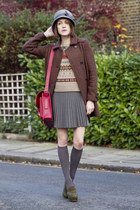 whistles coat - Ralph Lauren sweater - Ruitertassen bag - Kurt Geiger wedges