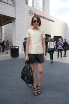 Mulberry bag - Tibi shorts - Jimmy Choo sunglasses - Vince Camuto sandals