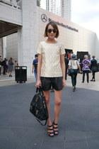 Mulberry bag - Tibi shorts - Jimmy Choo sunglasses - Vince Camuto sandals