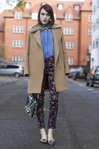 SANDRO coat - whistles shirt - Angel Jackson bag - Kurt Geiger flats
