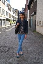 J Brand jeans - vintage jacket - Marc by Marc Jacobs bag - French Sole flats