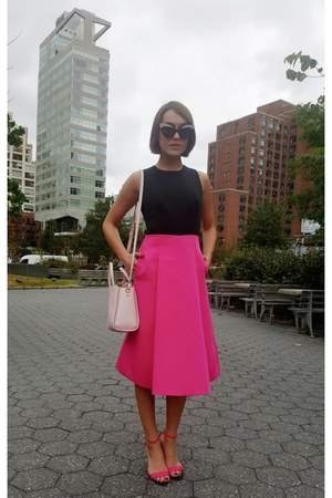 kate spade dress - kate spade bag - Wildfox sunglasses - Kurt Geiger sandals