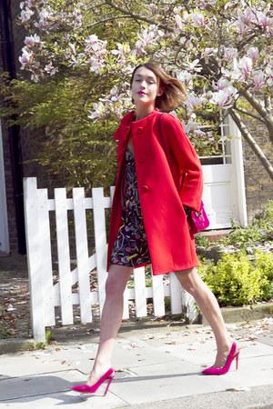 Coco Fennell dress - kate spade coat - Roger Vivier bag - karen millen heels