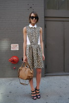 Sea NY dress - Jaeger London bag - Wildfox sunglasses - Vince Camuto sandals