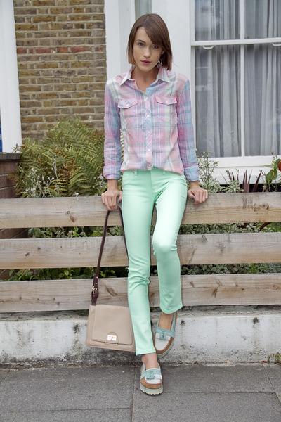 DL1961 Denim jeans - Gant shirt - whistles bag - Hush Puppies loafers