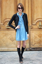 Topshop dress - H&M socks - Topshop sunglasses - Gap cardigan