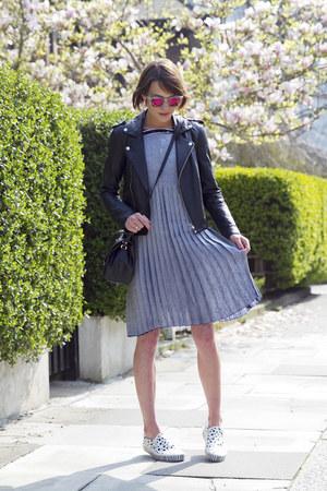 Charlie May dress - Maje jacket - Prism sunglasses