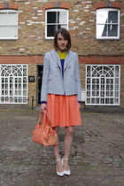 Carven dress - Carven jacket - Carven bag - Carven jumper - Kurt Geiger wedges