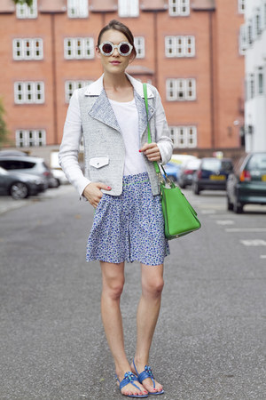SANDRO jacket - Michael Kors bag - Hobbs shorts - Wildfox sunglasses