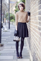 whistles skirt - Furla bag - Club Monaco gloves - Hobbs heels