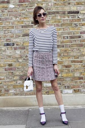 Petit Bateau top - tory burch skirt - LK Bennett heels