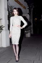 Alice  Olivia top - Alice  Olivia skirt - Maje heels