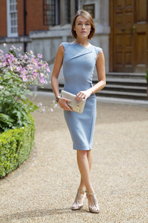 Roland Mouret dress - tory burch accessories