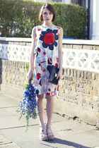 Mulberry dress - Mulberry bag - Mulberry heels