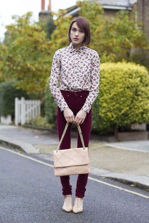 JCrew shirt - Roger Vivier bag - IDA by Donna Ida pants