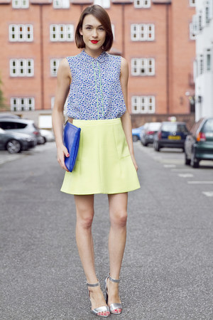 Hobbs bag - JCrew skirt - Hobbs blouse - next sandals