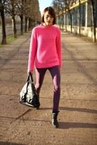 rag & bone boots - SANDRO coat - Hudson jeans - Mulberry bag - jaeger jumper