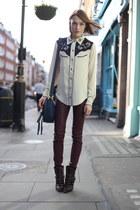 Isabel Marant shirt - Isabel Marant boots - Chloe bag - J Brand pants