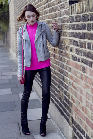 Armani Exchange jacket - karen millen boots - Valentino bag