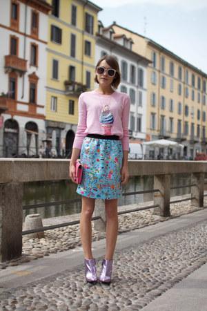 Kat Maconie boots - Markus Lupfer sweater - aspinal bag