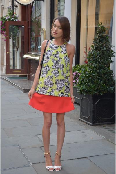 JCrew top - Aldo bag - Pollini sandals - JCrew skirt