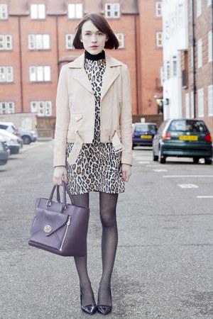 Alice  Olivia dress - SANDRO jacket - Mulberry bag - Kurt Geiger heels