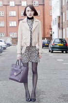 Alice  Olivia dress - SANDRO jacket - Mulberry bag - Kurt Geiger heels