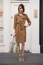 LK Bennett dress - LK Bennett bag - LK Bennett sandals