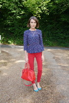 H&M top - Zara jeans - Jaeger London bag - French Sole flats