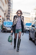 Pollini boots - whistles jacket - whistles sweater - Alice  Olivia bag