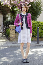 Claudie Pierlot dress - JCrew jacket - Rebecca Minkoff bag