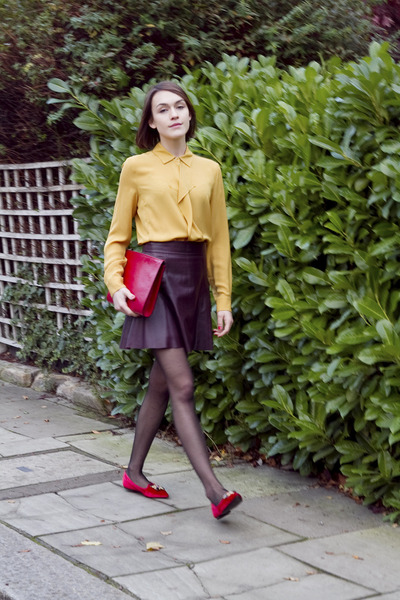 The Stills shirt - clutch Hobbs bag - leather banana republic skirt