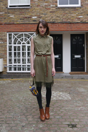 Diesel dress - Massimo Dutti boots - Angel Jackson bag - H&amp;M belt