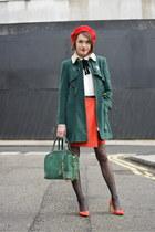 coach heels - whistles coat - Alice  Olivia bag - Maje blouse - coach skirt