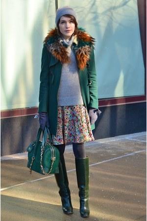 Alice  Olivia bag - Pollini boots - Ralph Lauren dress - whistles coat