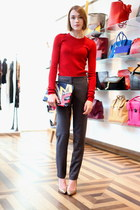 31 Phillip Lim bag - Isabel Marant jumper - ALC pants - sam edelman heels