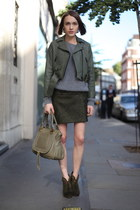 acne jacket - Rag and Bone boots - Chloe bag - acne jumper - acne skirt