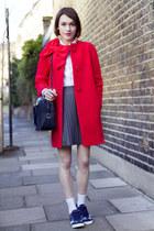 kate spade coat - Gap shirt - aspinal bag - Cath Kidston sneakers