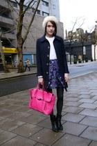 Kenzo skirt - rag & bone boots - APC coat - 31 Phillip Lim bag - Kenzo jumper