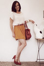 Off-white-zara-dress-ruby-red-mango-bag-ruby-red-noname-belt
