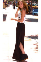 Zara skirt - brandy melville top - Isabel Marant sneakers