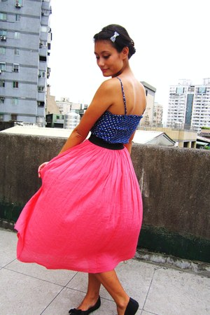 bubble gum maxi skirt - blue worn as top H&amp;M dress
