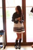armani boots - Rinascimento dress