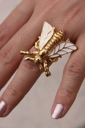 gold cicada ring Labyrinth accessories