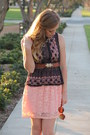 Dress-round-shades-sunglasses-crochet-top-top-belt