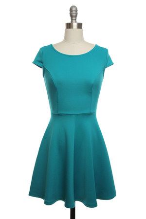 teal dress dress