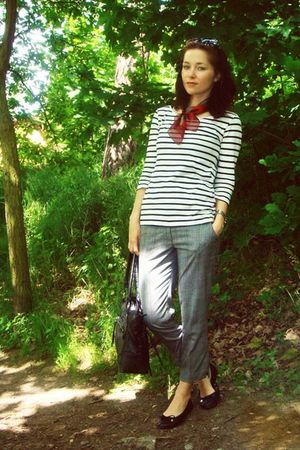 H&M shirt - H&M pants - new yorker bag accessories - hilfiger shoes - vintage sc