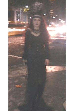 boots - black xtreme platform Pleaser boots - black morticia Glassons dress